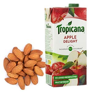 Tropicana Juice With Almonds: Gifts For Brother Bada Sarafa,  Indore