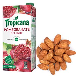 Tropicana & Dry Fruits Combo: Gifts For Boyfriend Industrial Area,  Indore