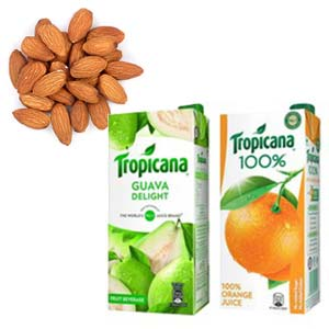 Dry Fruits With Tropicana Combos: Gifts For Him Indore Cantt,  Indore