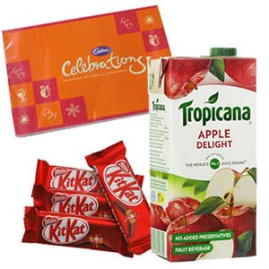 Tropicana Apple Juice Combo: Gifts For Her Sringar Colony,  Indore