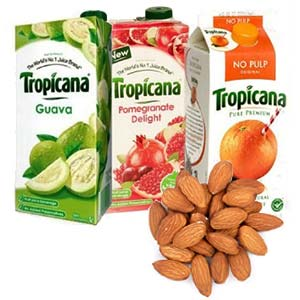 Tropicana Juice Combo With Dry Fruits: Gift Tilaknagar,  Indore
