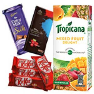 Tropicana And Chocolates Combo: Diwali Gifts Khedi Sihod,  Indore