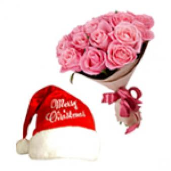 Christmas Cap With Roses: Christmas Industrial Area,  Indore