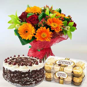 Mixed Flowers Combo: Gift Dudhia,  Indore