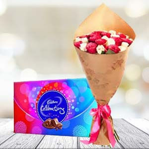 Mix Roses And Chocolates: Gift Sadar Bazar,  Indore