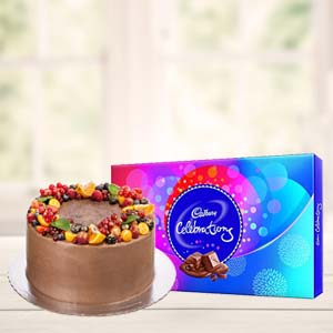 Chocolate Cake Gifts Combo: Valentine's Day Indore Cantt,  Indore