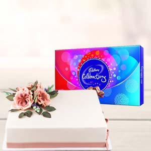 2 KG Cake Gifts Combo: Valentine Gifts For Husband Sringar Colony,  Indore