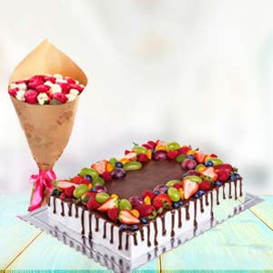 2 KG Chocolate Cake Gifts Combo: Rose Day Uchchanyayalay,  Indore