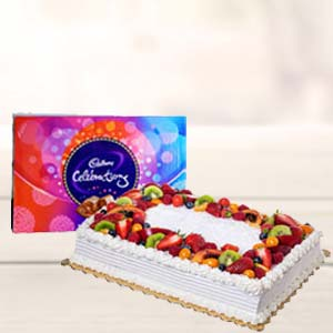 2 KG Pineapple Fruit Cake: Kiss Day Pardesipura,  Indore