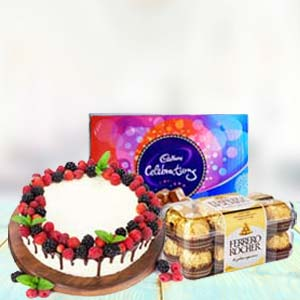 Chocolate Gifts With Fruit Cake: Gifts For Him New Palasia,  Indore