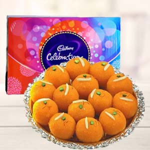 MotiChoor Ladoo With Celebration: Diwali Gifts Collectorate,  Indore