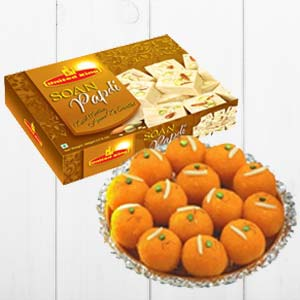 Haldiram Soan Papdi With Ladoo: Birthday  Indore