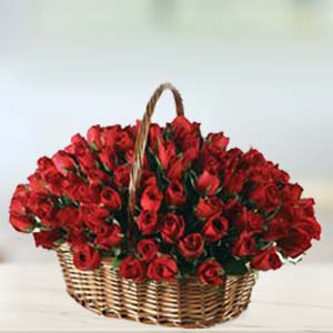 Special 70 Rose Basket: Valentine's Day Gifts For Boyfriend Raj Mohalla,  Indore