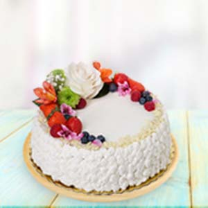 Fresh Fruit Cream Cake: Kiss Day Army Head Quarter,  Indore