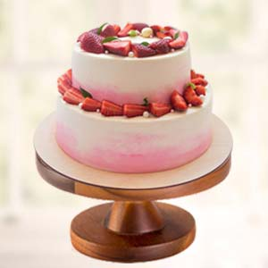 Strawberry Fruit Cake: Valentine's Day Vallabhnagar,  Indore