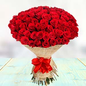 100 Red Roses: Gift New Palasia,  Indore